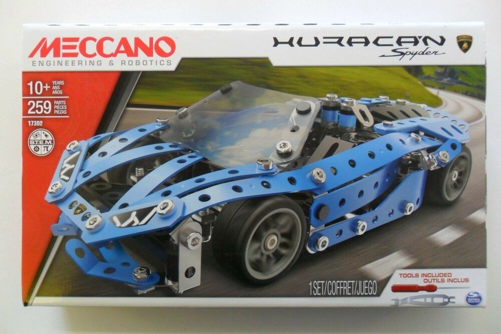 Meccano Costruzioni Lamborghini Huracan Spyder 259 Pezzi Parts 10+ Art 17302