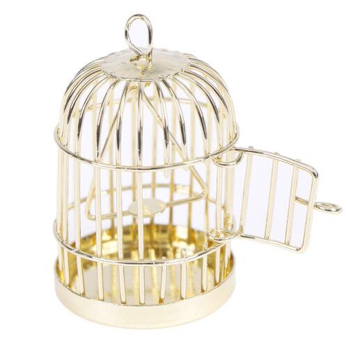 1:12 Dollhouse miniature furniture metal bird cage for dollhouse decor ODUS