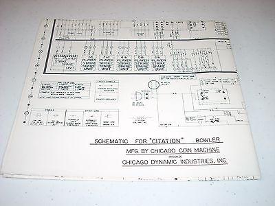 chicago wiring diagram chicago coin bowler citation 1969 schematic original full wiring  chicago coin bowler citation 1969