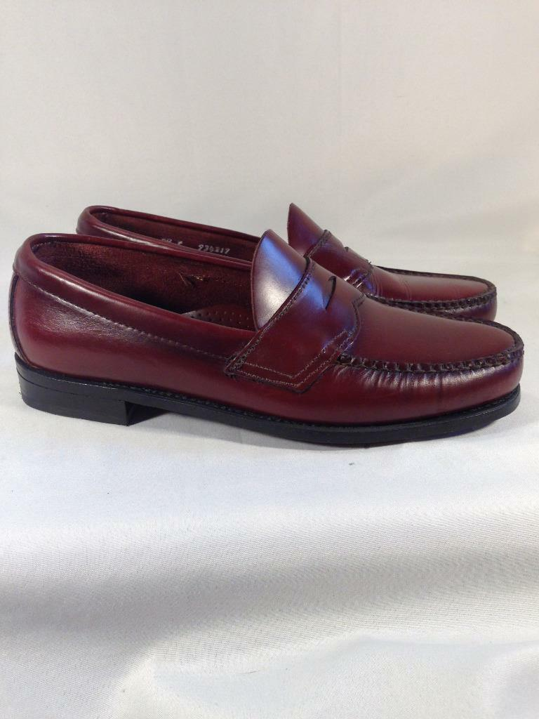 Womens Dexter Sz. 8.5E Burgundy Leather Penny Loafers   B313