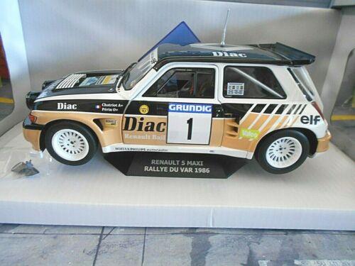 Renault 5 Maxi Turbo rally du Var 1986 #1 chatriot Diac talla B solido nuevo 1:18