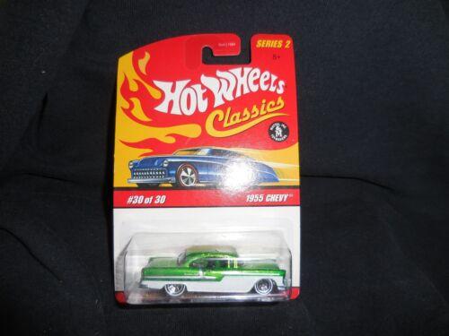 Hot Wheels Classics 2006 30 of 30 1955 Chevy Green MOC 5
