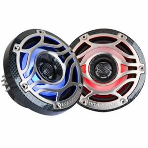 Pair-Massive-Audio-T65S-Speakers-w-LED-039-s-Marine-Grade-6-5-034-inch-Speakers