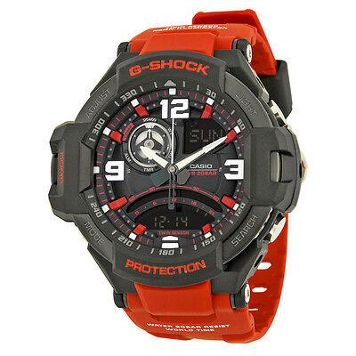 Casio G Shock Black Dial Orange Resin Mens Watch GA1000-4B
