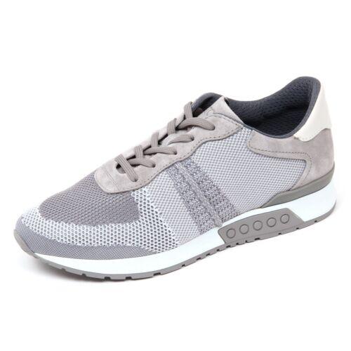 D0426 sneaker uomo TOD\'S scarpa maglia sportivo grigio/bianco shoe man