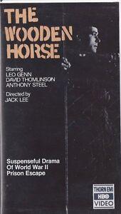The Wooden Horse World War Ii Prison Escape Vhs Leo Genn Hbo Rare