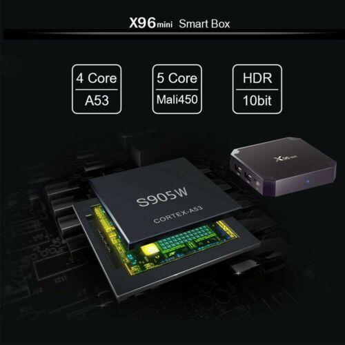 NEW X96 Mini Quad Core 2GB+16GB Android 7.1 TV Box Smart HD Media Player WIFI UK