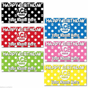 4-5ft-Giant-Polka-Dot-Spots-Personalised-Birthday-Plastic-Sign-Banner-Decoration