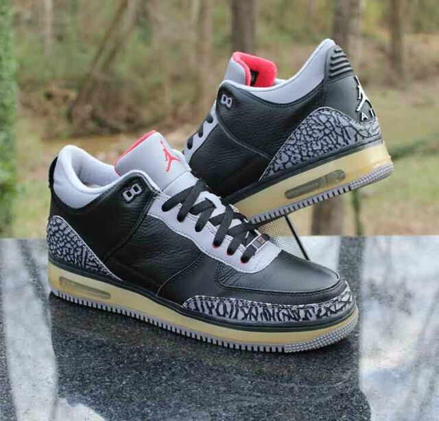 the best attitude 4e349 c2f60 Nike Air Jordan Fusion 3 Men's Size 11.5 Black Cement 323626-061 Bred
