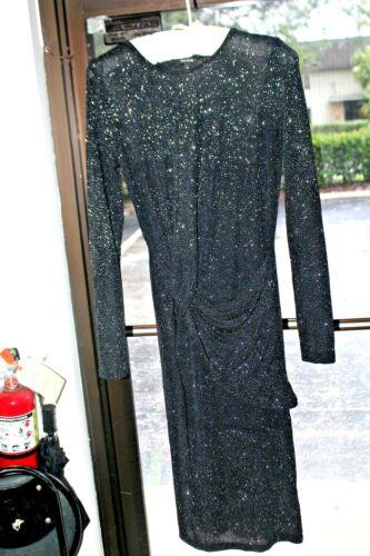 Women's Size 12 River Island Black Glitter Dress