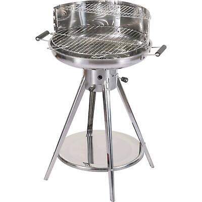 Barbecuegril À Charbon en Acier Inoxydable Chromé Grill Rond