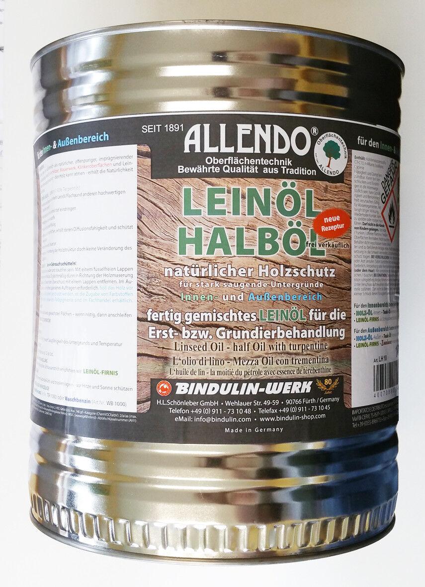 Allendo Halböl 10 L Dose= 7,49 Euro L aus Leinöl, Grundieröl Holzschutzöl Holzöl