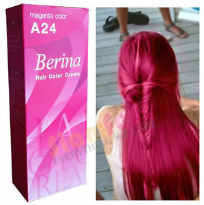 berina permanent color hair dye cream magenta a24 free shipping