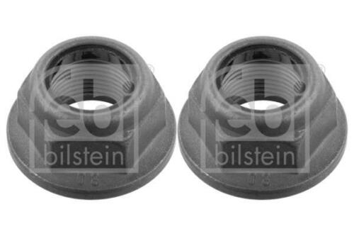 2x Wheel Hub Nut Rear for DACIA SANDERO 1.4 1.5 1.6 08-on dCi Febi