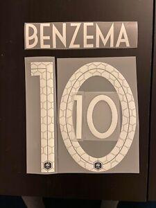 FLOCAGE Équipe  De France  Benzema #10 Name Set Domicile 2 Étoiles.