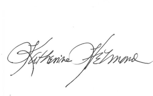 Katherine Helmond Signed 2x3.5 Cut Index Card PSA/DNA Autograph Who's The Boss