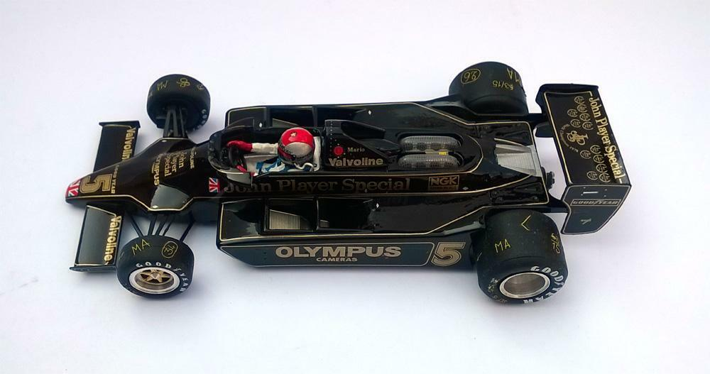 Ostorero Lotus 79 JPS - Mario Andretti - 1978 World Champ 1 32 Slot Car ODG 158P
