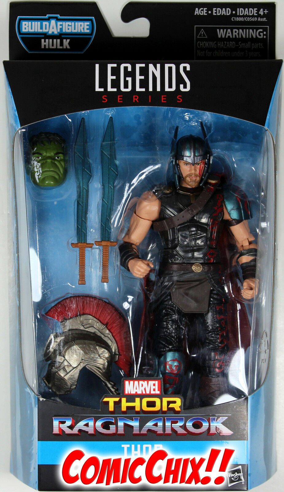 Marvel Legends Thor Figura De Acción (película)  Thor  Ragnarok  Hulk Serie Baf