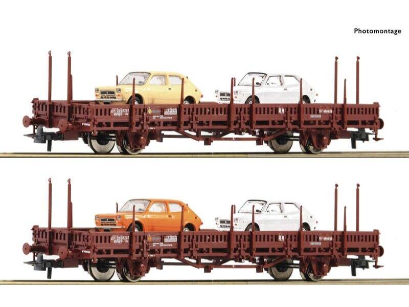 ROCO 67086 Rungenwagen-Set US 2 pezzi RENFE h0