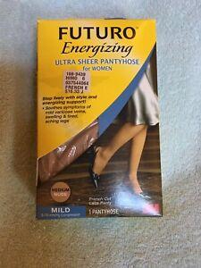 Futuro Energizing Ultra Sheer Pantyhose Size Medium French
