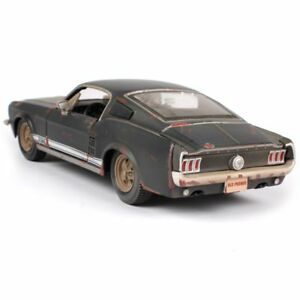 Xmas-Old-Vintage-Diecast-Model-Car-1967-FORD-Mustang-GT-Kids-Toys-In-Box-Gifts