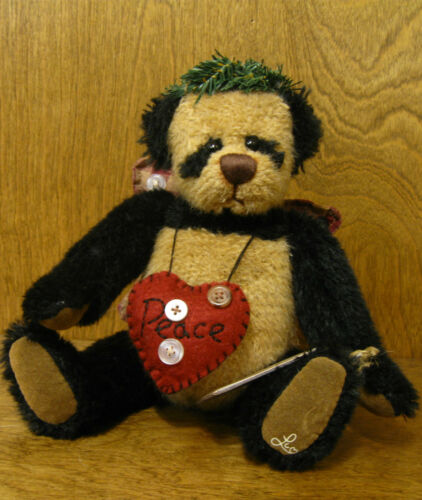 "Ganz Cottage #CC11184 ANGEL PEACE, 10"" Panda by Lorraine Chein NEW minttags"