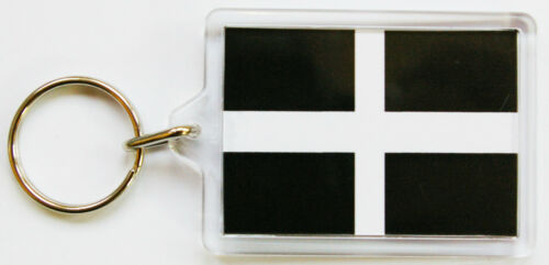 Cornish Flag Key Ring in 2 Sizes Kernow