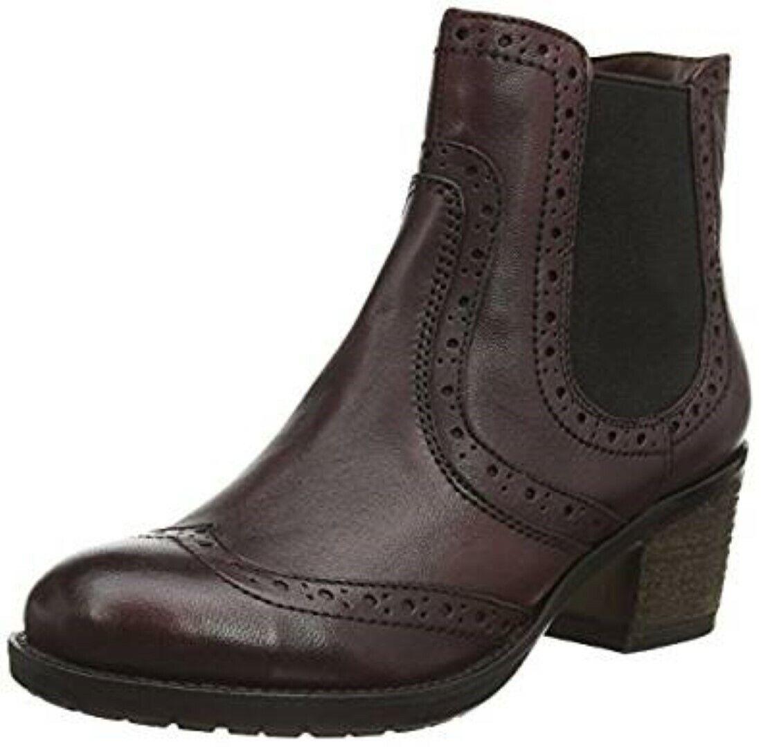Lotus Daria Ankle botas rojo Bordo Leather Talla UK 5 EU 38 NH12 45