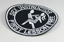 Patch ecusson   Sex Instructor  , custom,  harley, moto; biker,rock, gothique