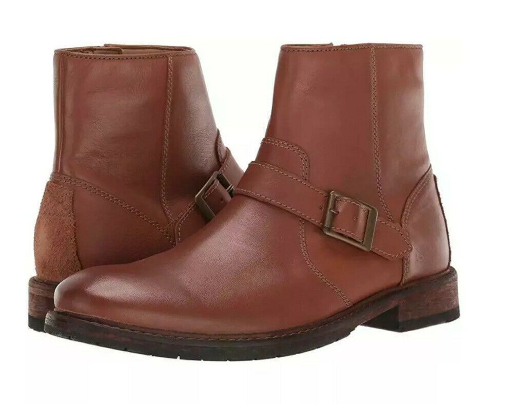 New Clarks Clarkdale Spare Dark Tan Leather Men Boots UK 6.5 G / EU 40 / US 7.5