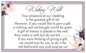 Wishing Well Cards Wedding Invitations