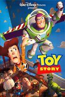 Toy Story Movie Poster 2 Sided Rare Original 27x40 Disney Tim Allen Tom Hanks
