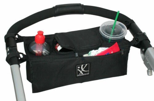 Britax stroller cup holder baby bottle keys mom bag diaper organizer NEW Black