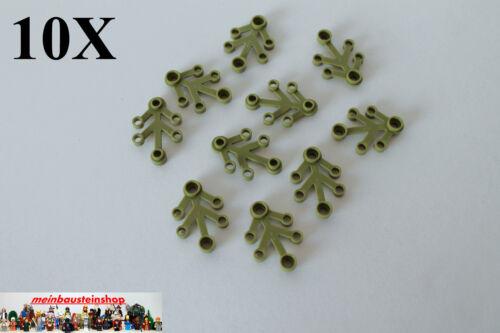 10X Lego® 2423 Pflanze Blätter Plant Leaves Olivegrün 4X3 NEU