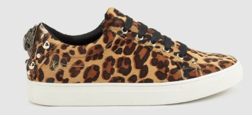 Beautiful Kurt Geiger Animal Print Leather Trainers UK Size 5 - BNWB
