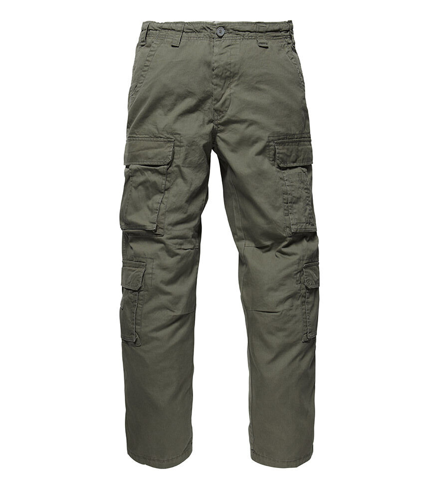 Vintage Industris Men's Cargo Pants Leisure Trousers Army