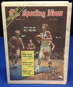 Bill Walton Signed The Sporting News 1973 Newspaper - PSA/DNA # 3A45465