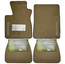 New Ford F-150 Floor Mats Oem Set Front W/ Rear All Weather Floormats Tan Truck