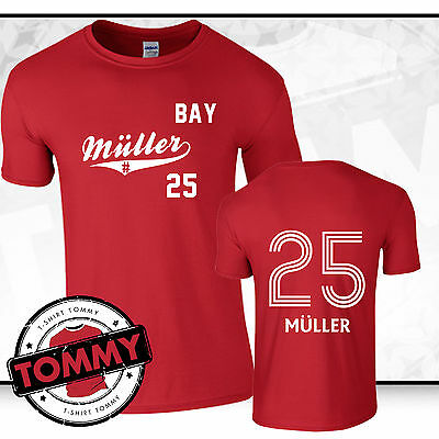 save off 6d3c6 40d8d Thomas Muller Bayern Fan T-Shirt, Thomas Muller T-Shirt Munich Fan T-Shirt    eBay