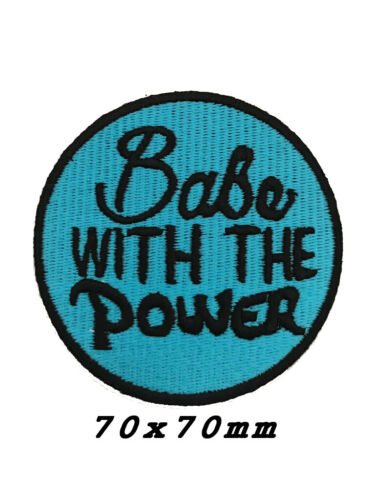 Babe With THE Power Quote Patch Embroidered Patches Iron On sew on Patche-A1197