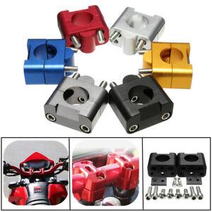 Kit-7-8-039-039-22mm-a-28mm-CNC-Adaptateur-Fixation-Support-Guidon-Aluminium-Moto-VTT