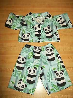 """PANDA BEAR IN FOREST LONG SLEEVE PAJAMAS PJS for 16-17/"""" CPK Cabbage Patch Kids"""