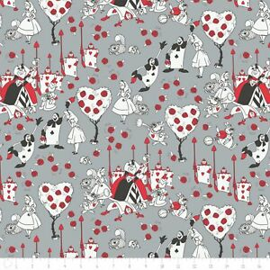 Disney-Alice-in-Wonderland-Painting-Roses-Stone-100-cotton-fabric-by-the-yard