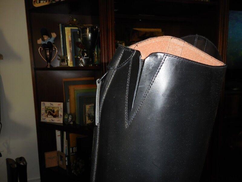 Nuevo Nuevo Nuevo En Caja Ovation finalista Pro todo el cuero negro Botas de Campo señoras con cremallera trasera Talla 6R 43c42a