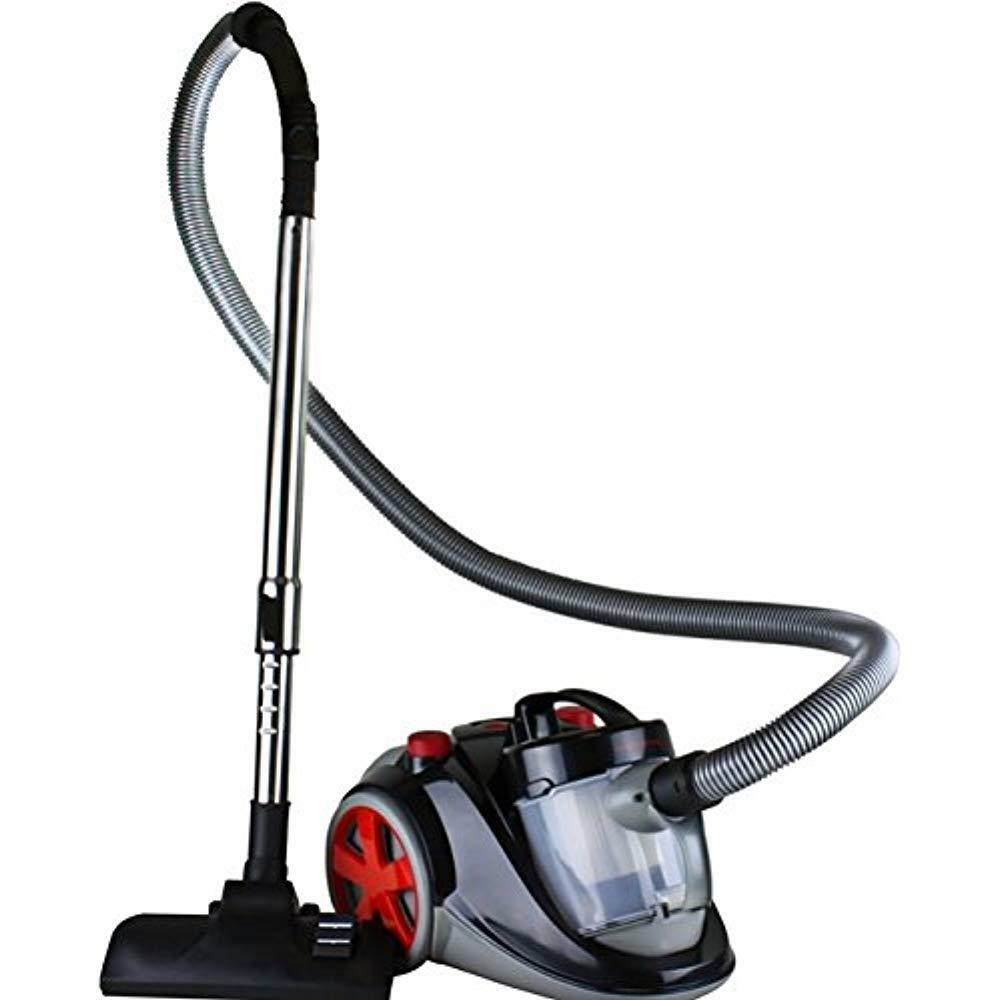 - Canister Vacuums Ovente Bagless Cyclonic With HEPA Filter, Comes Telescopic