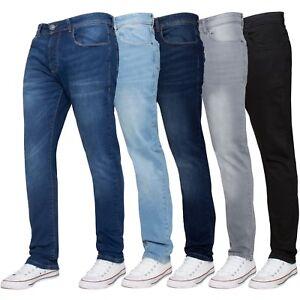 ENZO-Designer-Mens-Skinny-Stretch-Jeans-Slim-Fit-Denim-Trousers-Pants-All-Sizes