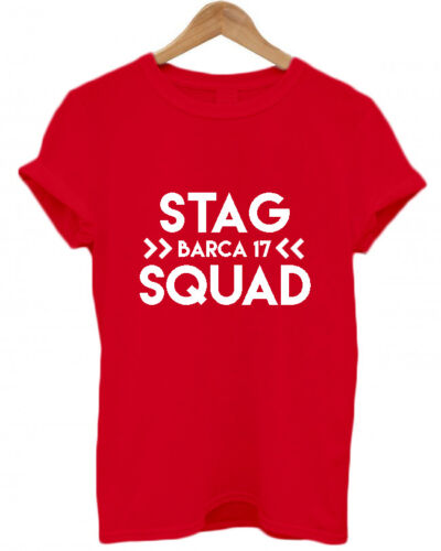 Location Funny Hen night T Shirt Top STAG SQUAD PERSONALISED STAG DO T SHIRTS