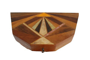 Vtg-Mid-Century-Modern-Carved-Wood-Pearl-Inlay-Craft-Art-Jewelry-Table-Box