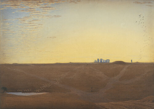 J M W Turner Stonehenge Twilight 4151 Art Print//Poster