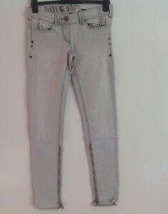 RIVER-ISLAND-Blue-ACID-WASH-Faded-Denim-SKINNY-Jeans-Studded-Size-8